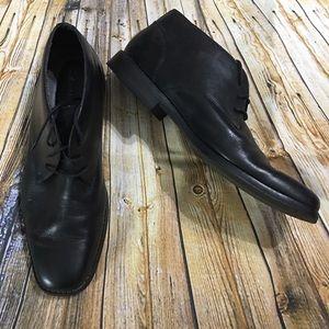 Calvin Klein Black Leather Dress Shoes Size 12